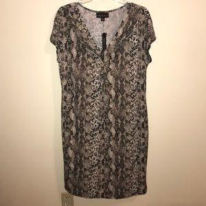 NWT Dana Buchanan python print dress